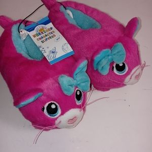 4\20 Build a Bear Children's Slippers Kitty Bootie